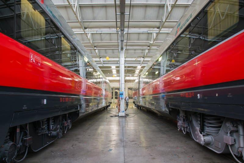 Chariots de rail image libre de droits