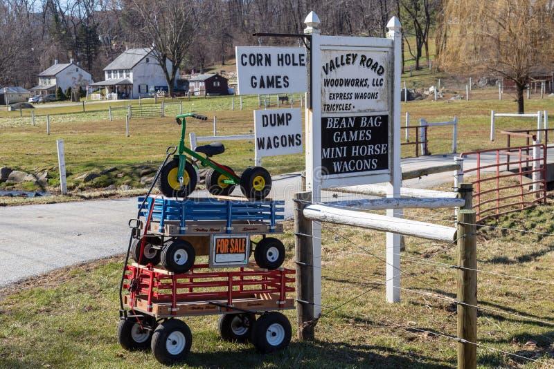 Chariots et Tricyle à vendre photo libre de droits