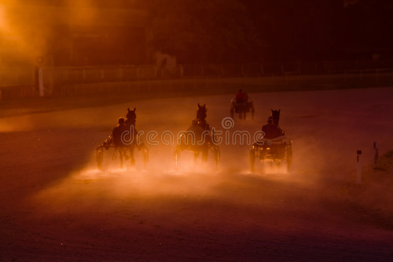 Chariots of fire stock images