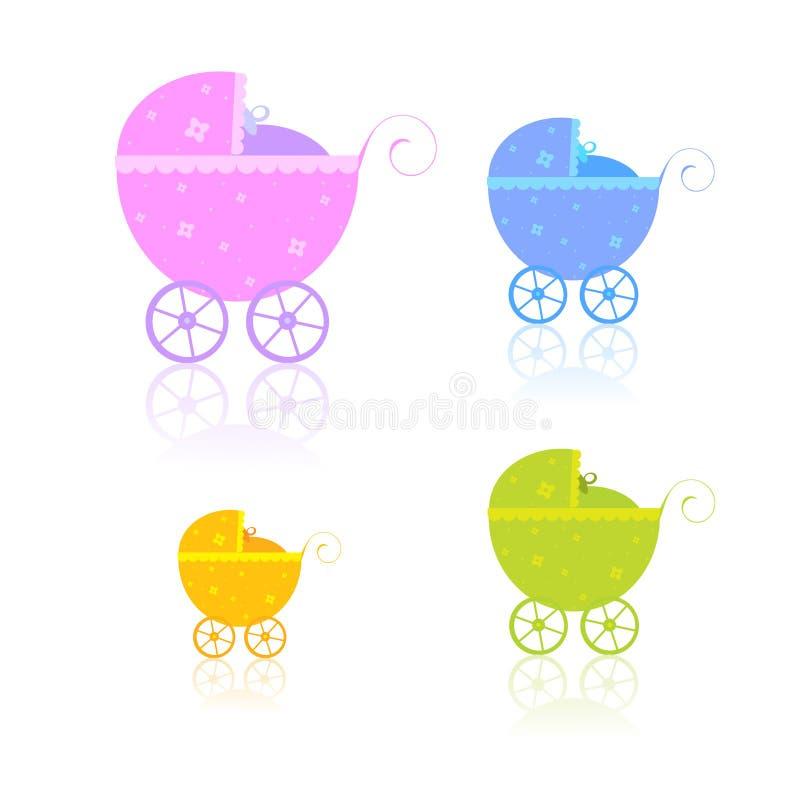 Chariots nouveau-nés illustration de vecteur