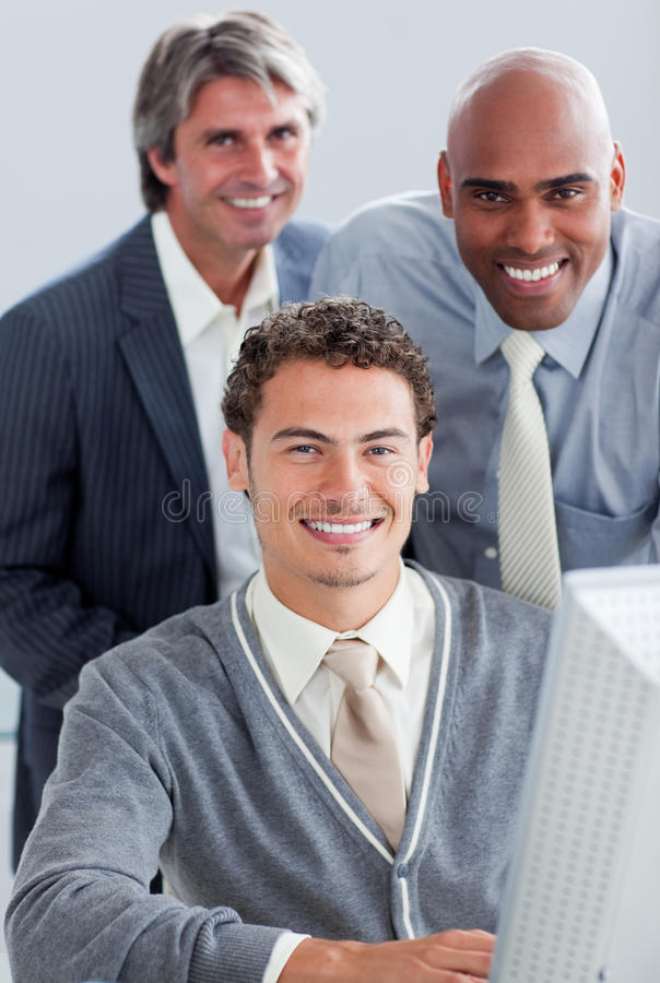 Download Charismatic Business Partners Working Together Stock Photo - Image: 12975648
