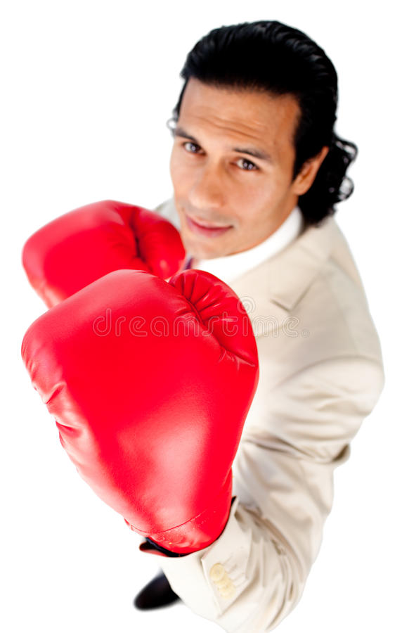Download Charismatic Businessman Beating The Competition Stock Image - Image: 12254963