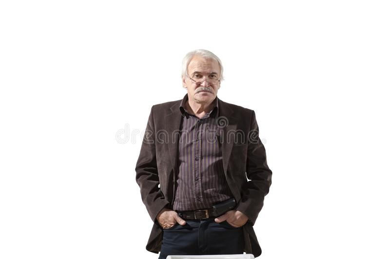 Charismatic man on a white background royalty free stock image