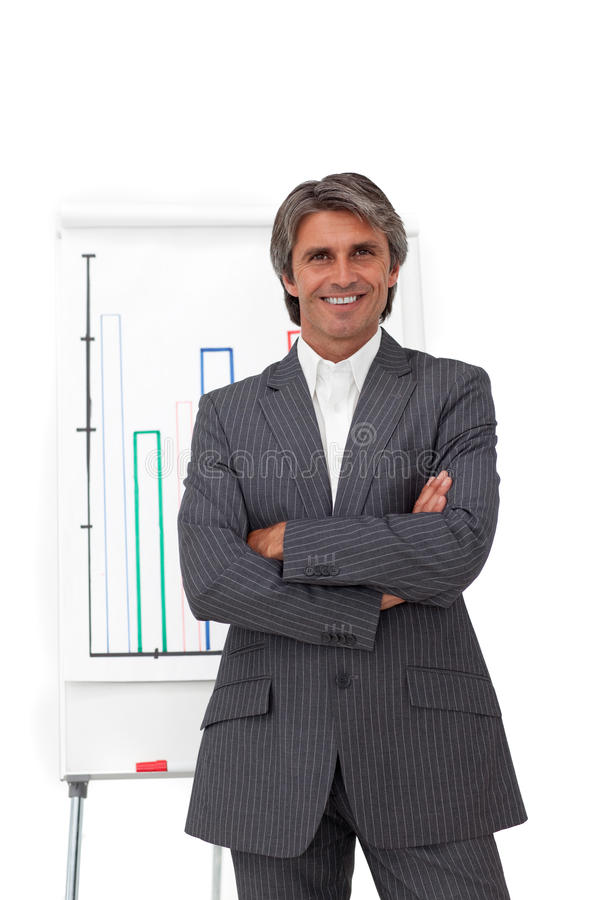 Download Charismatic Mature Businessman With Folded Arms Stock Photo - Image of conference, business: 12445842