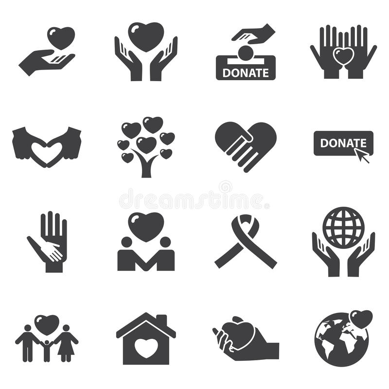 Free Charity And Love Icons Stock Image - 60356361