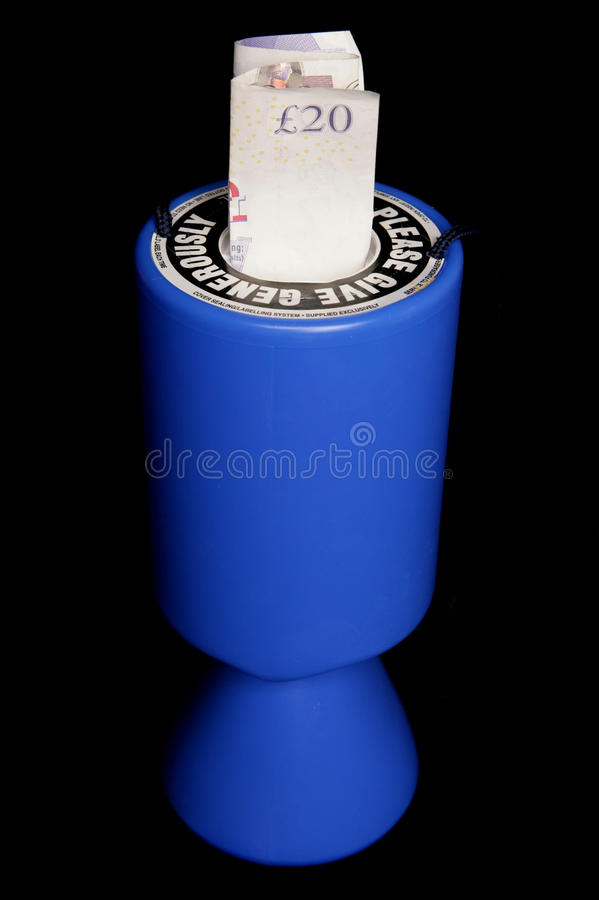 Download Charity Collection Tin With Twenty Pounds Stock Photo - Image: 14084094