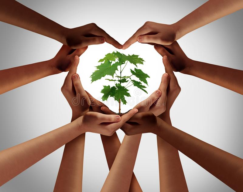 Charity Concept And symbol of hope. Charity concept or earth day global diversity support celebration as a community symbol for friendship and volunteer donation stock photos