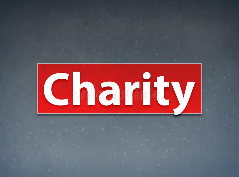 Charity Red Banner Abstract Background royalty free illustration