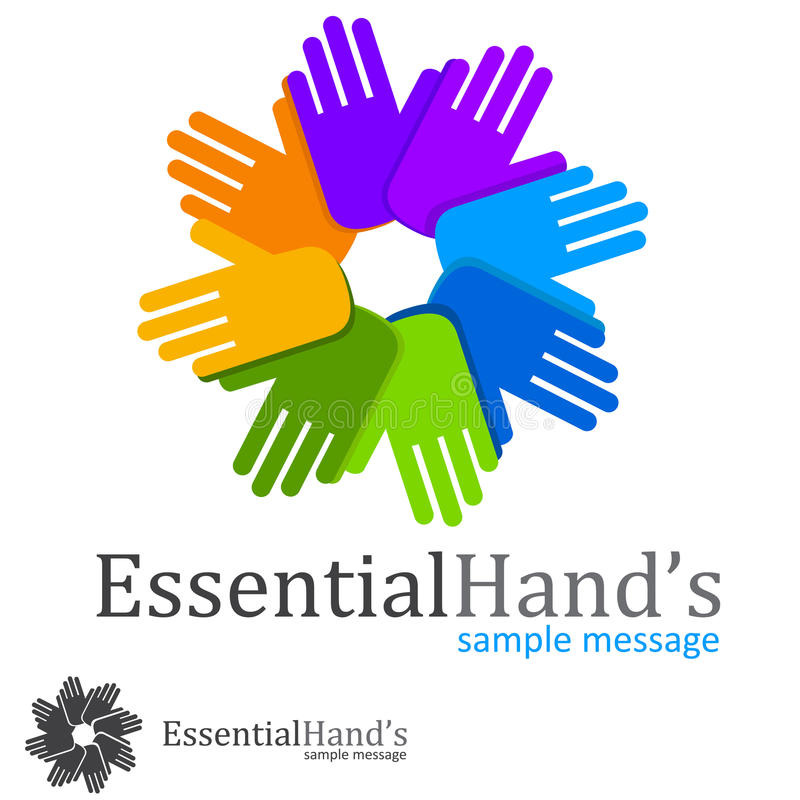 Charity Logo. Charity concept ,hand,people symbol vector illustration