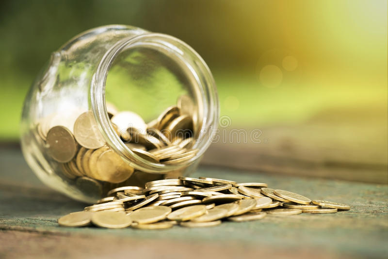 Charity money jar royalty free stock photos