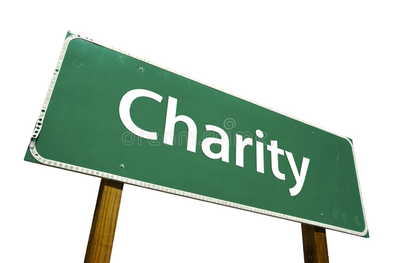 Download Charity- Road Sign. Stock Photography - Image: 4563832