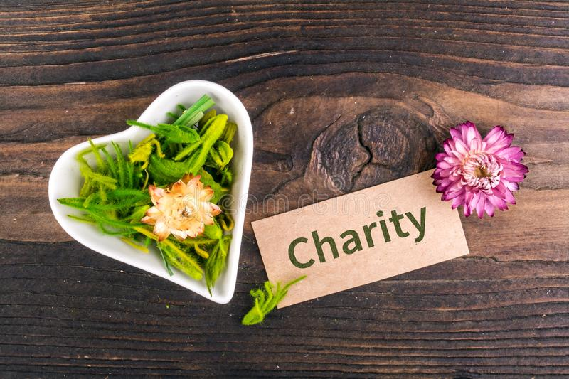 Charity word on card royalty free stock images