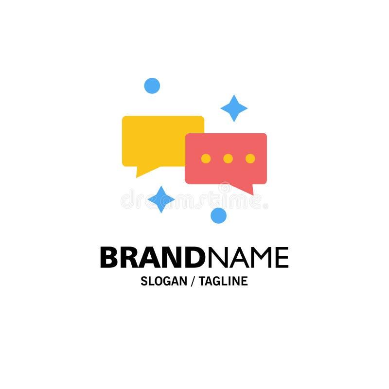 Charla, charlando, correo, negocio Logo Template del correo electrónico color plano libre illustration