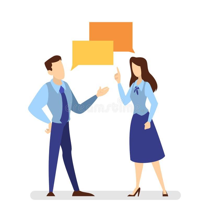 Charla de dos personas el uno al otro Conversación libre illustration