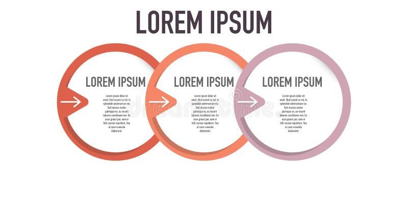 Charla de Infographic que exhibe los diversos pasos para el logro stock de ilustración