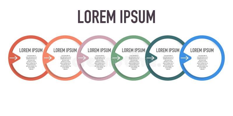 Charla de Infographic que exhibe los diversos pasos para el logro libre illustration