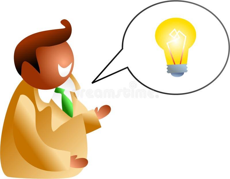 Charla de la idea stock de ilustración