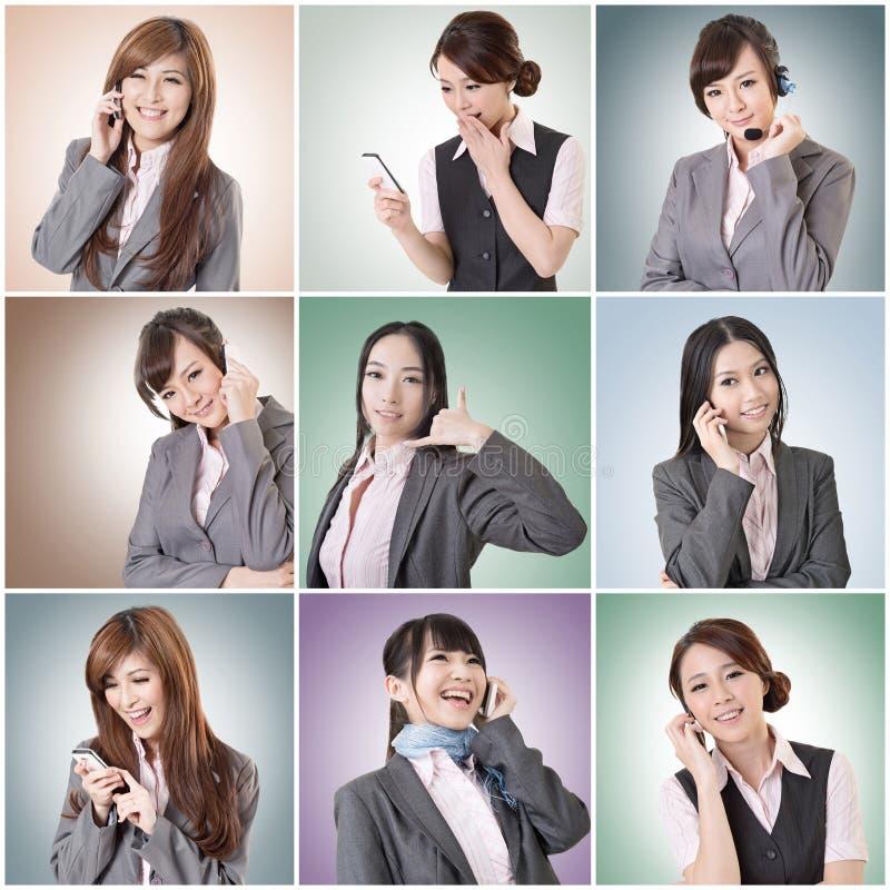 Charla de la mujer de negocios imagenes de archivo