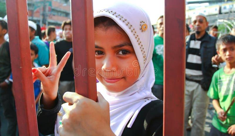 Charla de paz musulmán fotos de archivo