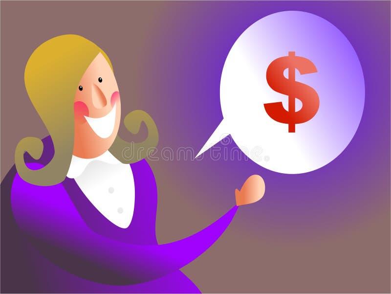 Charla del dinero stock de ilustración