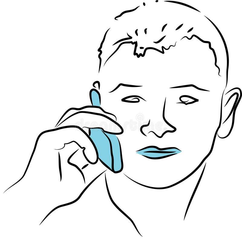 Charla del teléfono ilustración del vector