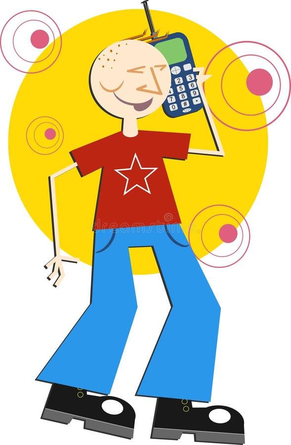 Charla del teléfono celular stock de ilustración