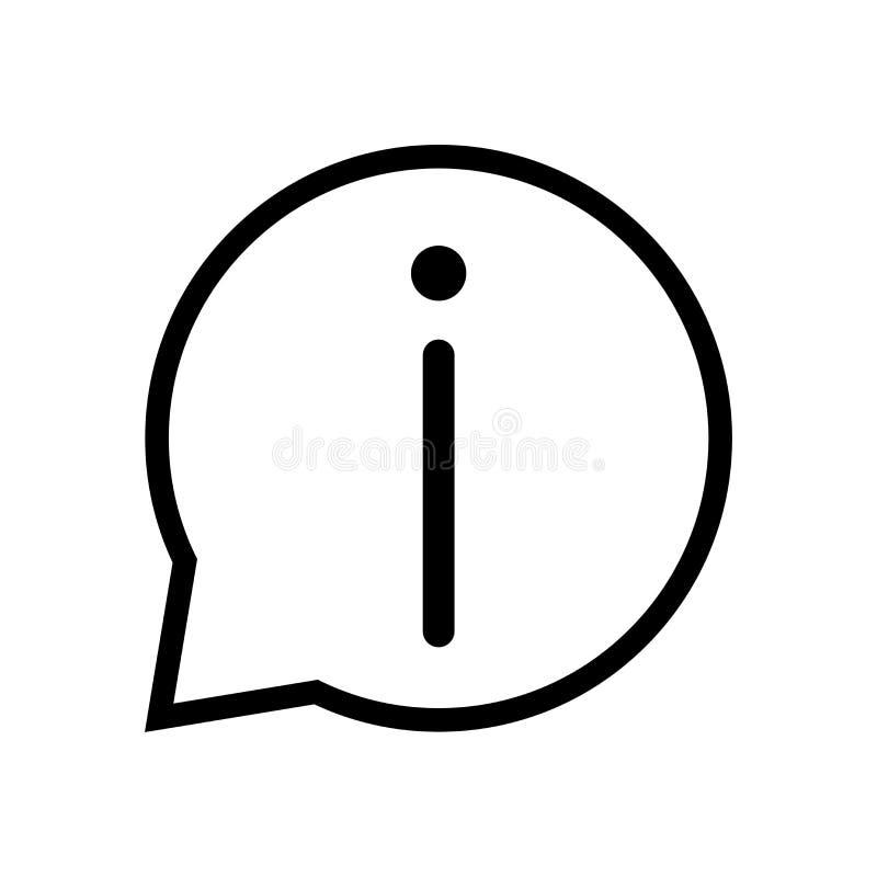 Charle el icono de la muestra de la información de la muestra en burbuja del discurso - vector el diseño icónico ilustración del vector