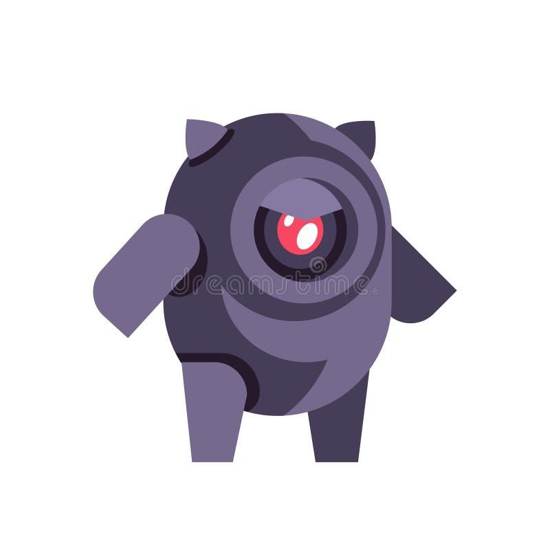 Charle el plano aislado tecnología del chatbot del concepto de la inteligencia artificial del icono del robot del bot ilustración del vector