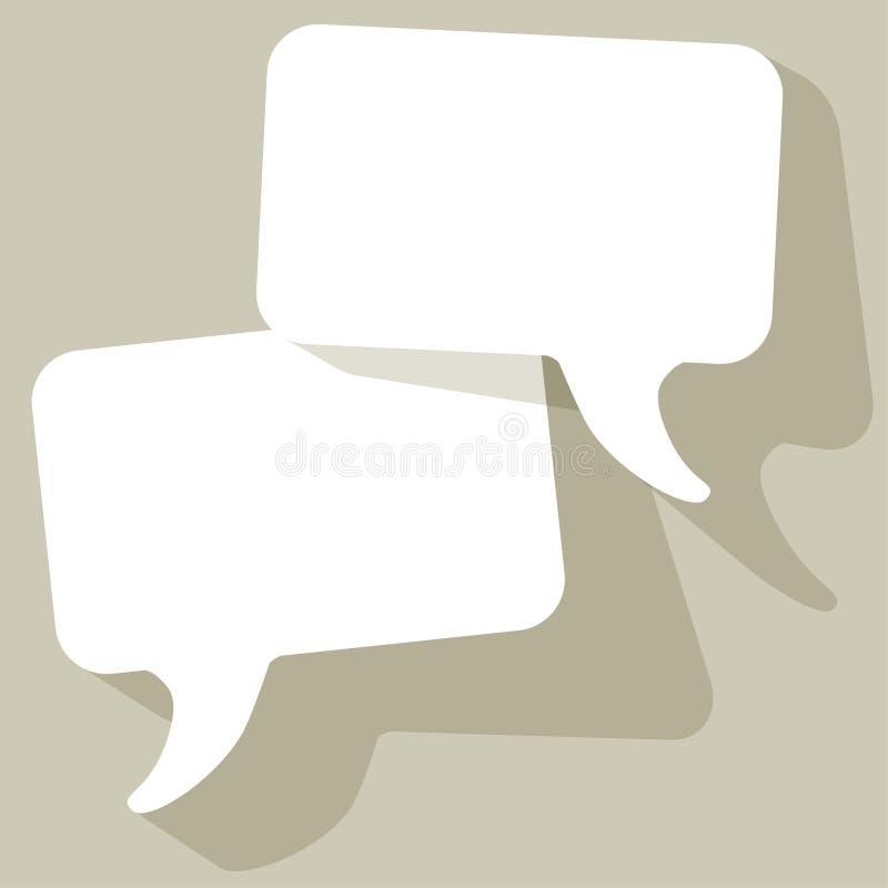 Charle FreeSpace blanco de las burbujas del discurso en un fondo gris stock de ilustración