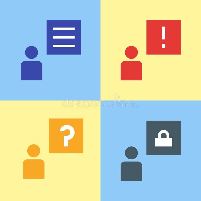 Charle la burbuja, notificación de los mensajes del vector, ejemplo del diseño del icono stock de ilustración