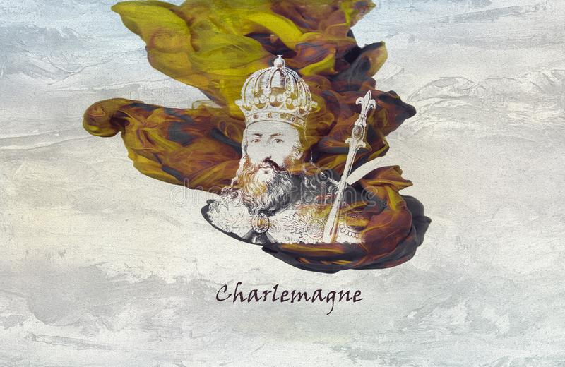 Charlemagne ou Charles The Great illustration de vecteur
