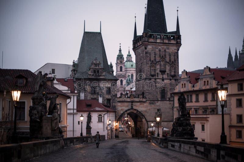 Charles överbryggar i Prague royaltyfria foton