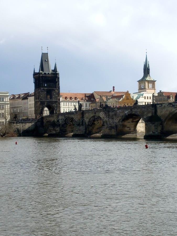 Charles överbryggar i Prague royaltyfria bilder