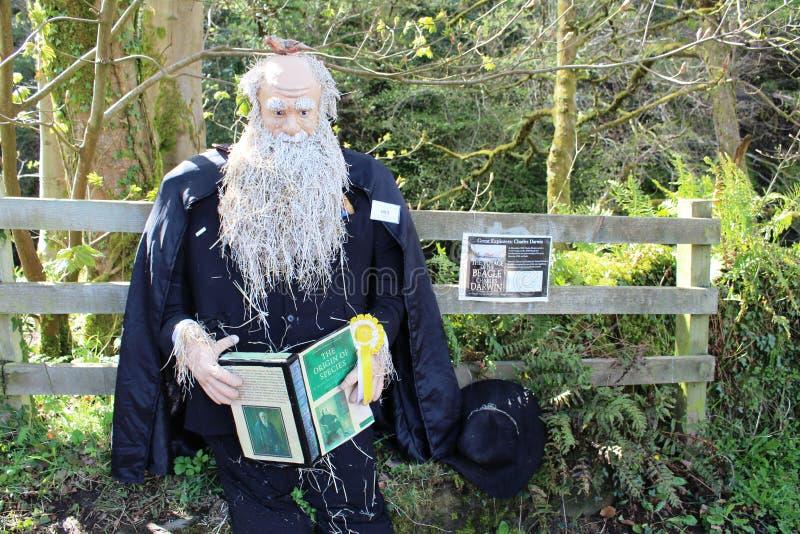 Charles Δαρβίνος, φεστιβάλ σκιάχτρων Wray, Lancashire στοκ φωτογραφία με δικαίωμα ελεύθερης χρήσης