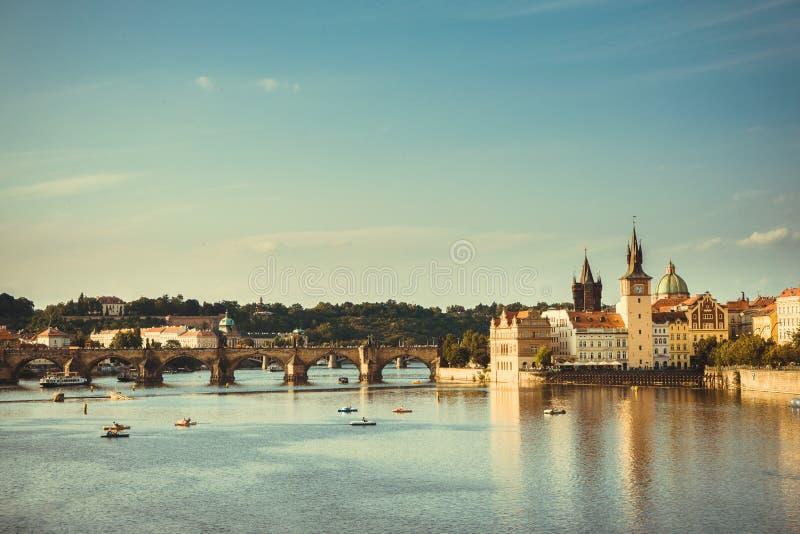 Charles-Brücke Prag stockbilder