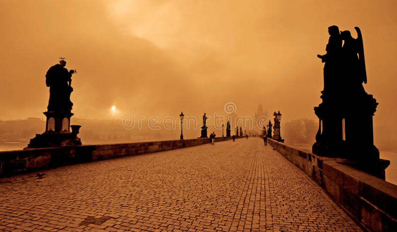 Charles Bridge royalty-vrije stock afbeelding