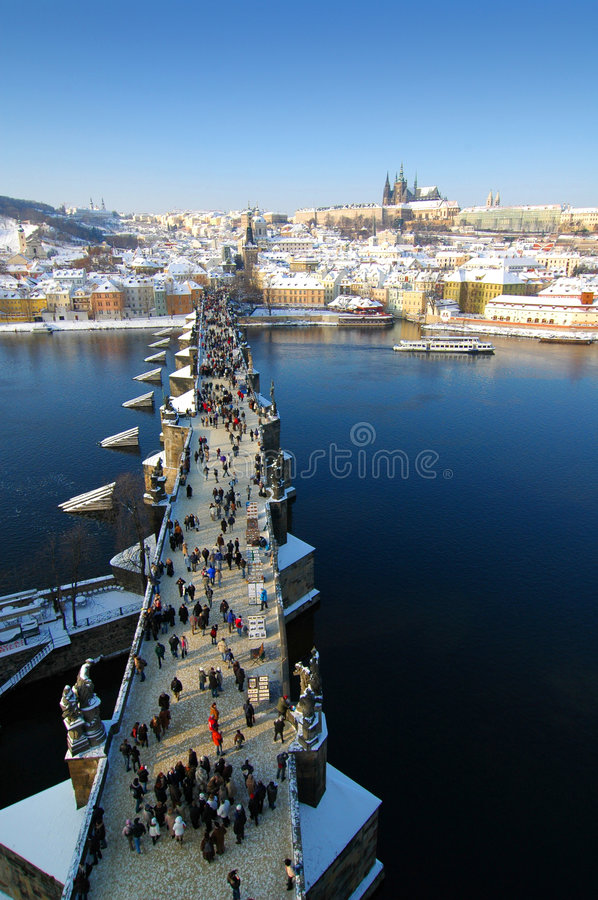 Download Charles bridge stock photo. Image of tourists, european - 469898