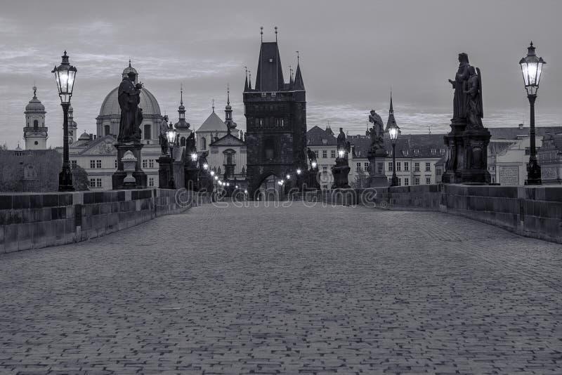 Charles Bridge Czech-republiek stock afbeeldingen