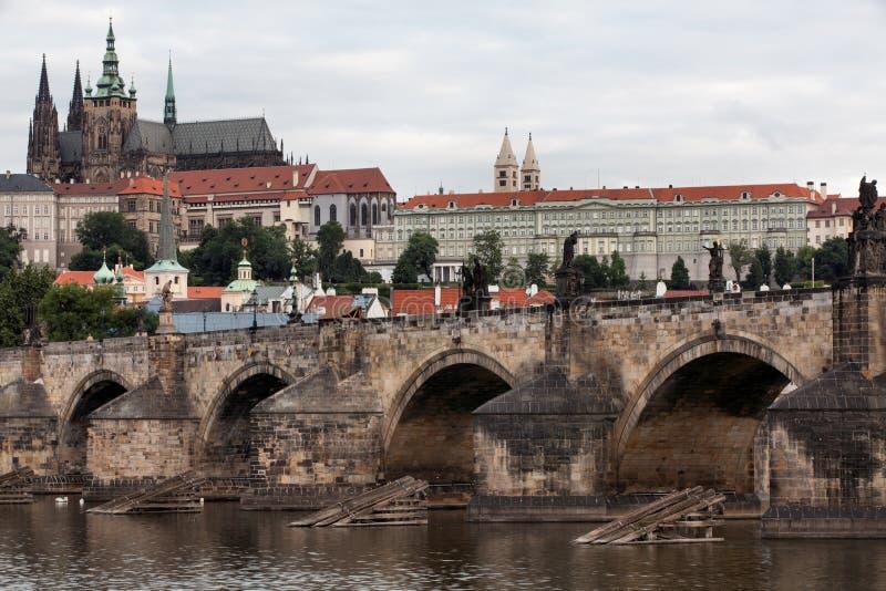 Charles Bridge en Praga foto de archivo libre de regalías