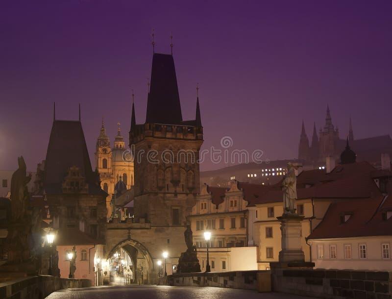 Charles Bridge i Prague royaltyfri foto