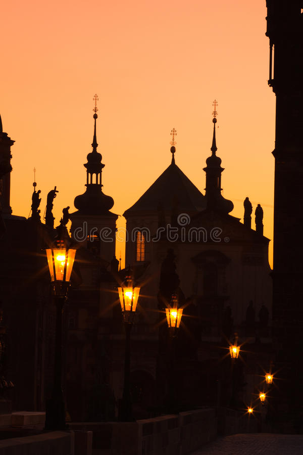 Download Charles Bridge In The Night Stock Photography - Image: 17946052