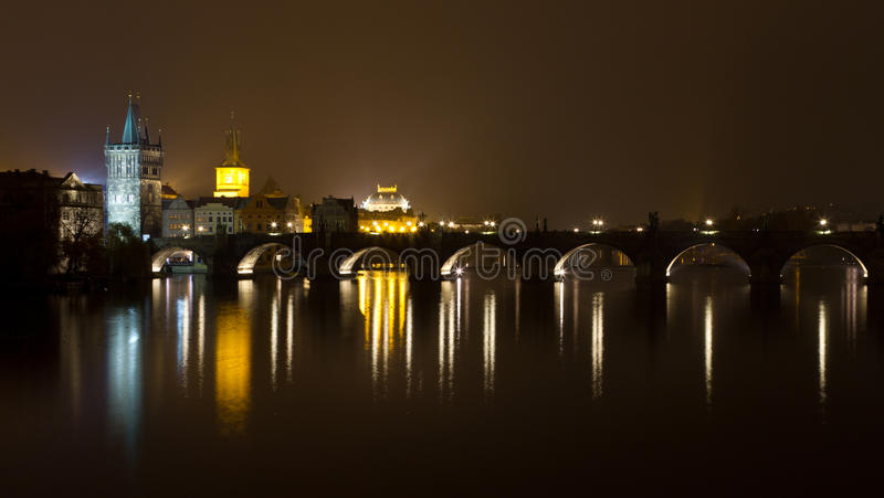 Download Charles Bridge At Night Royalty Free Stock Image - Image: 22868206