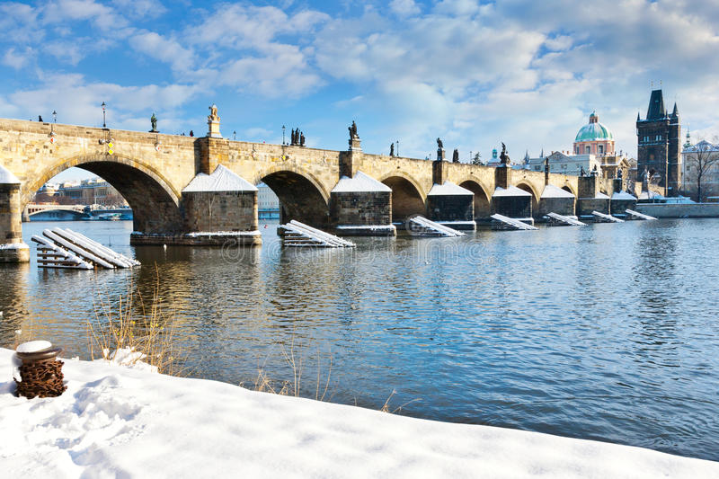 Charles bridge, Old Town, Prague (UNESCO), Czech republic stock photography