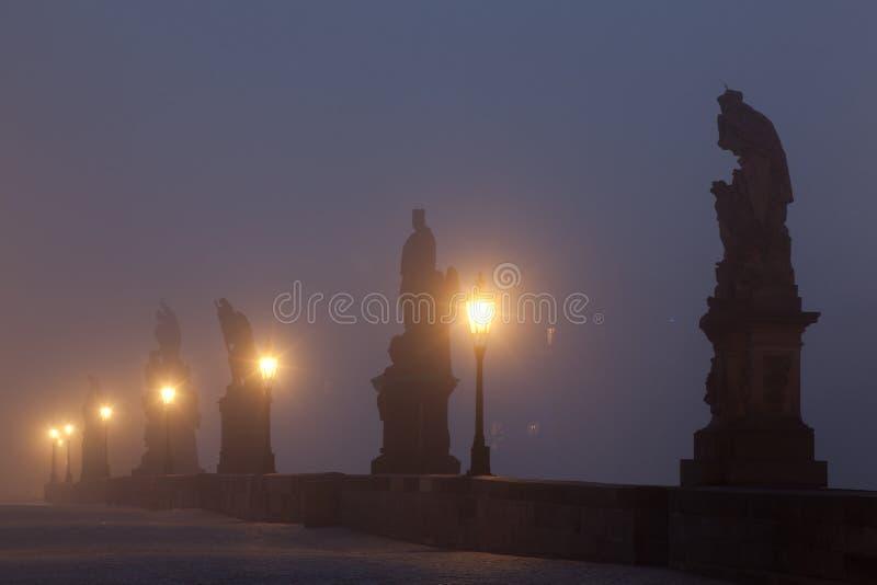 Charles Bridge in Praag stock fotografie