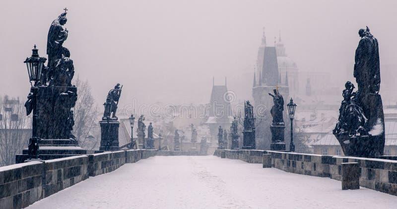 Charles Bridge, Praag royalty-vrije stock afbeelding