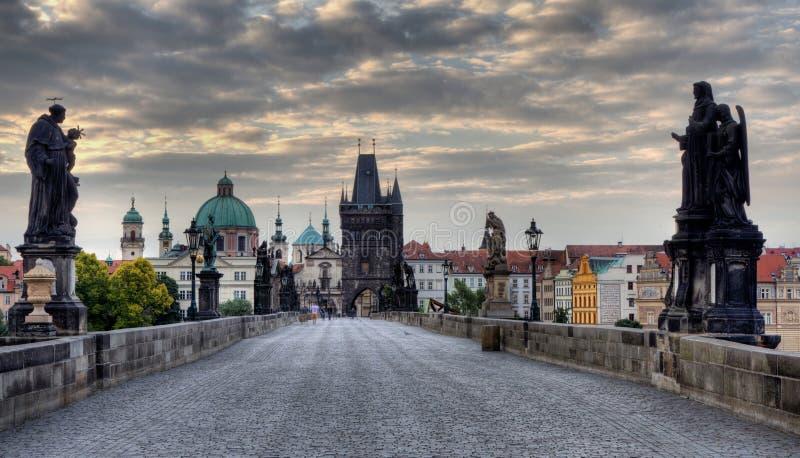 Charles Bridge in Praag royalty-vrije stock afbeelding