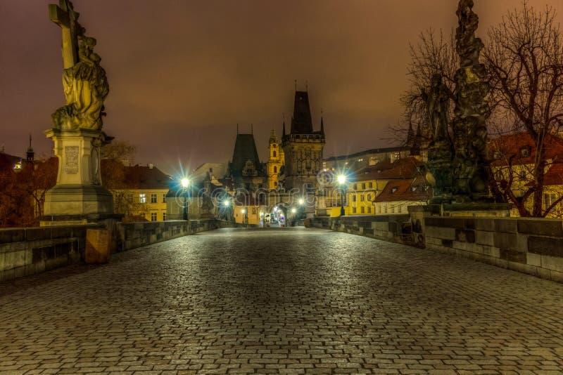 Charles Bridge, Praag, Czechia royalty-vrije stock foto