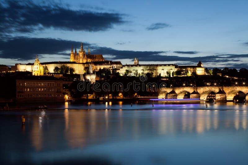 Charles Bridge in Prag stockbild