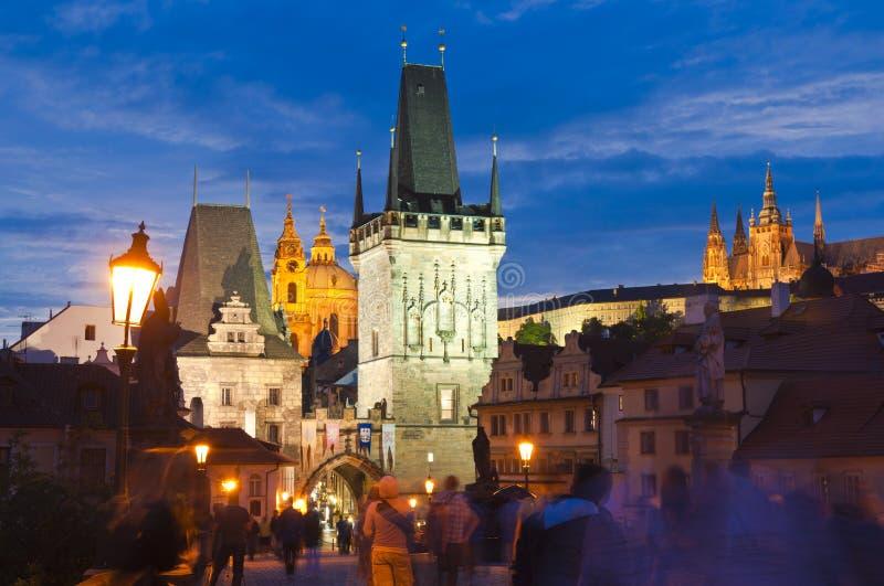 Charles Bridge, Praga immagine stock libera da diritti