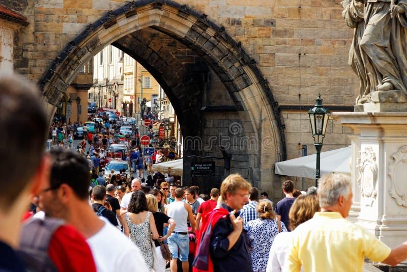 Charles Bridge, Praga fotos de stock